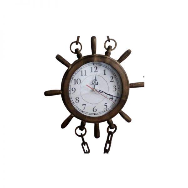 ساعت لنگری چوبی بزرگ