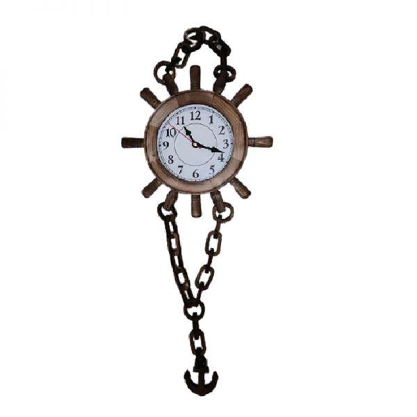 ساعت چوبی لنگری بزرگ