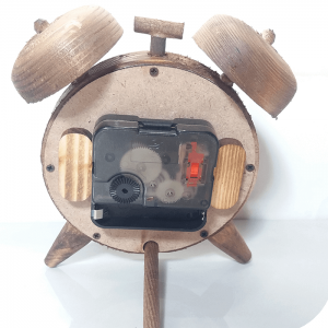 ساعت رومیزی چوبی کوچک