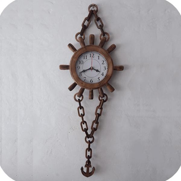 ساعت لنگری چوبی کوچک