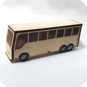 اتوبوس چوبی دست ساز