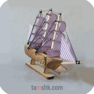 کشتی چوبی دکوری
